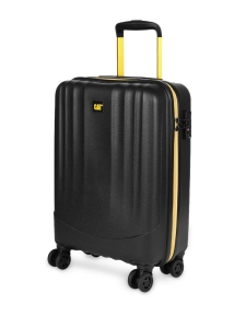 CAT Unisex Black Turbo Spinner Extremely lightweight Cabin/Carry On Small Softside Trolley Suitcase 20 Inches _ 50.8 CM