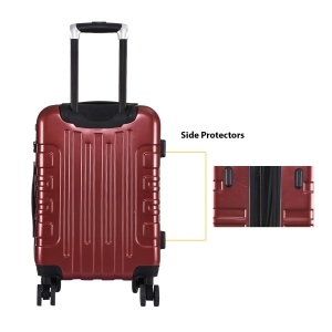 CAT Cityscape ABS 54.6 CM Wine Red Hardside lightweight Cabin Suitcase/trolley (83662-134)