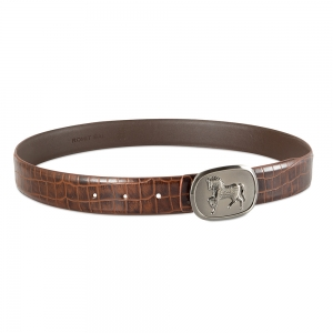 Rohit Bal Leather Belt with Crocodile effect (95 Cms.)