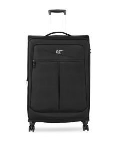 CAT Unisex Black Hammer Expandable Check In Large Softside Trolley Suitcase 28 Inches _ 71.12 CM