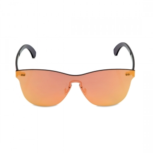 Rohit Bal Pink Mirrored Rimless Oval Sunglasses