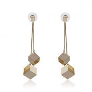 Lesk Drop Earrings with Zircon Stone
