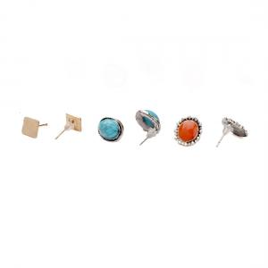 Lesk Value Pack of 9 set of Earrings.