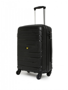 CAT Crosscheck Polypropylene 56 CM Black Hardside lightweight Cabin Suitcase/trolley (83546-01)