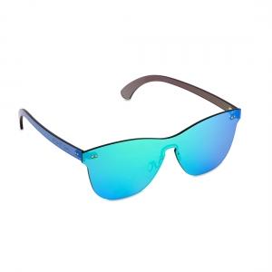 Rohit Bal Green Mirrored Rimless Oval Sunglasses