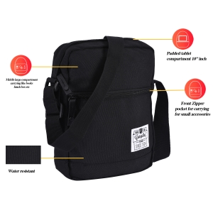 CAT Unisex Hauling Black Sling/Crossover shoulder 10 inch Tablet/Messenger Bag  (83144-01)
