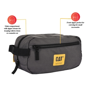 CAT Unisex Toiletry Bag Anthracite Travel Organizer Bag/Cosmetic Bag (83648-06)