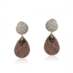 Lesk Drop Earrings with Coin Charm