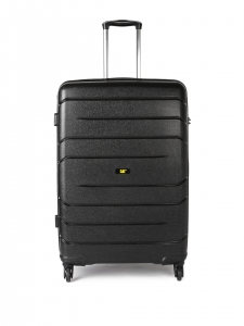 CAT Crosscheck Polypropylene 78.5 CM Black Hardside lightweight Check In Suitcase/trolley (83548-01)