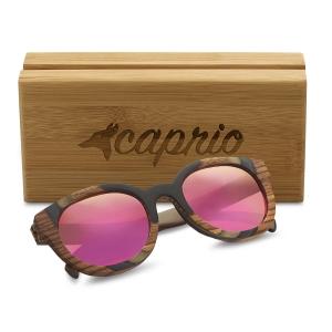 Caprio Round Wooden Sunglasses for Women