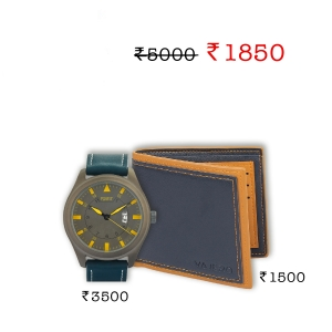 Forst leather strap watch + Vajero Leather wallet for men