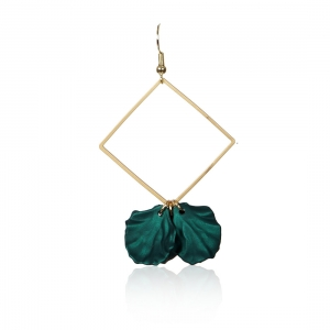 Lesk Drop Earrings with Petal Charm