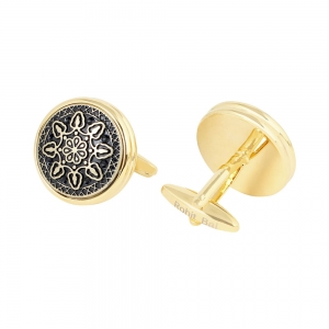 Rohit Bal Geometric Flower Cufflinks
