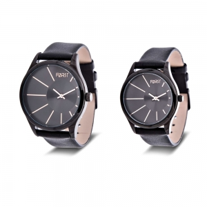 Forst Leather Strap Couple Watch Set